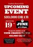 10 K Draw – Club Fundraising event